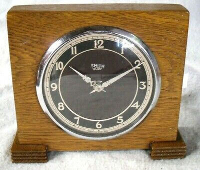 Art Deco 1930 Smiths Sectric/GEC Movement Wooden Electric Mantel Clock,Restored