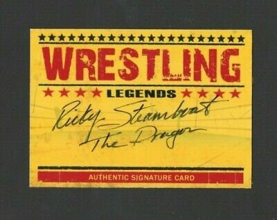 Ricky Steamboat Authentic Autographed Signed Wrestling Legends Signature Card
