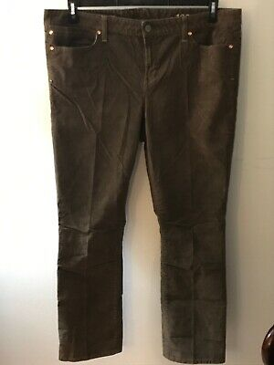 Gap Womens Brown (Fawn) Color Real Straight Corduroy Pants Women's Plus Size 20