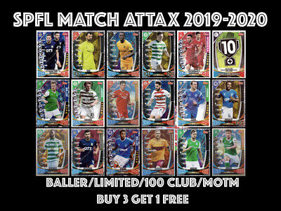 Topps Spfl Match Attax 2019/20 19/20 Baller Motm Limited Edition 100 Club