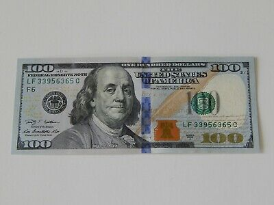 The Brand New U.s. $100 One Hundred Dollar Bill Uncirculated Money Currency