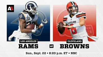 Cleveland Browns vs. Los Angeles Rams Section 119, Row 5, 2 Tix