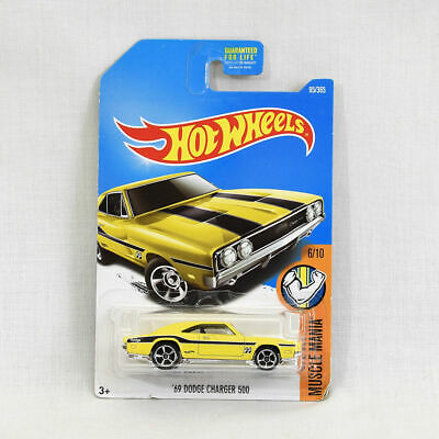 Mattel Hot Wheels Muscle Mania 1:64 Die Cast Car 1969 Dodge Charger 500 NEW