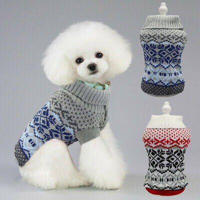 Dog Christmas Sweater Chihuahua Clothes Small Puppy Cat Jumper Knitwear Apparel