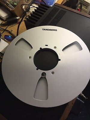 "Beautiful Tandberg 10.5"" Empty Metal Reel. This Was The Factory Reel."