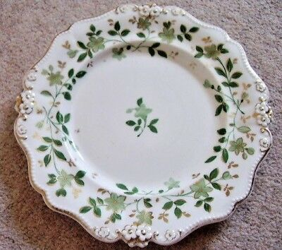 Collectable Antique Coalport Floral China Porcelain Plate,hand painted,1