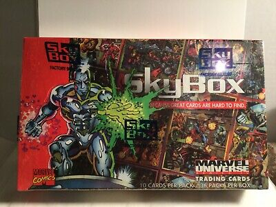 1993 Marvel Universe Series 4 Trading Cards Factory Sealed Box, 36 Packs! Skybox