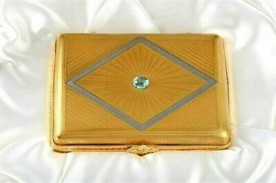 Faberge Rare Jewel & 24 Ct Gold Encrusted Snuff Box Limoges For A Nurses Fund