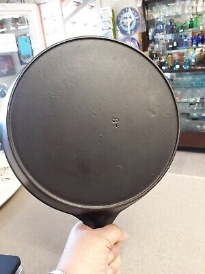 UNMARKED VOLLRATH #8 Cast Iron Skillet Heat Ring 1930s Pro Cleaned & Seasoned