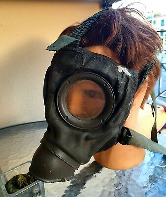 MASCHERA  ANTIGAS TEDESCA antigas tedesca Gas Mask German ORIGINAL