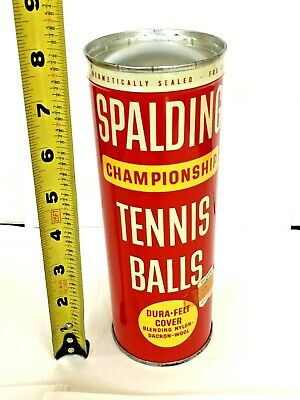 Vintage  Sealed SPALDING Metal Can Tennis Ball Can Championship