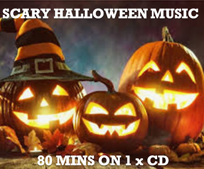 HALLOWEEN SCARY ATMOSPHERE MUSIC CD 80 Minutes witches wolves ghosts ghouls