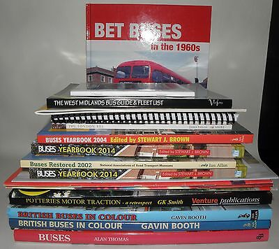 Buses- British Buses - Related Interest, Joblot, Large Amount, HB/PB Collection