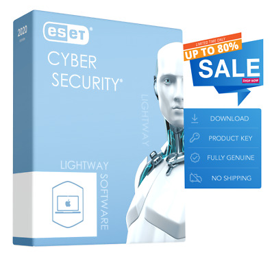 ESET Cyber Security 2020 - 1 Mac, 1 Year (License Key - Download)