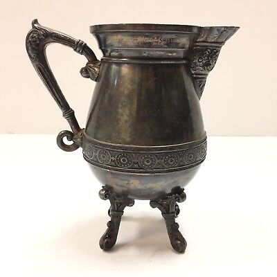 Meriden Footed Quadruple Plate Pitcher #1414
