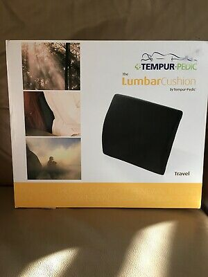 NEW Tempur-Pedic Lumbar Support Pillow For Travel Lower Back Seat Cushion