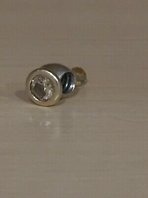 Authentic Pandora Bead style charm. 14kt and 925 Silver
