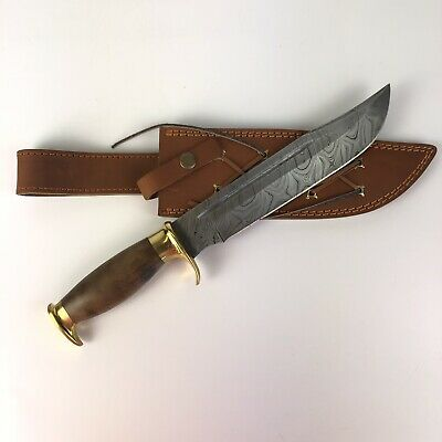 "Knife King Damascus Custom Made Hand Crafted Steel ""Big Bro"""