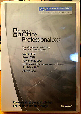 Microsoft Office 2007 Professional MLK with Backup Disc