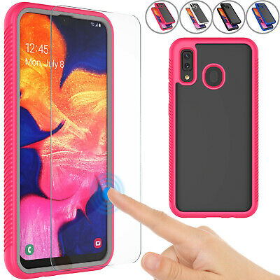 For Samsung Galaxy A20/A30/A50 Clear Case With Screen Protector Cover 360 Slim