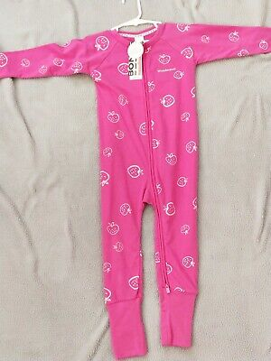 Bonds BNWT wondersuit zip zippy size 2 strawberry