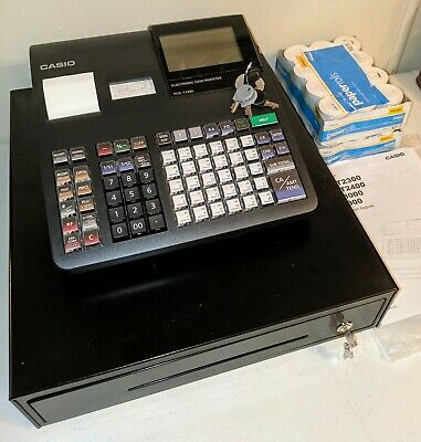 NWOB Casio PCR-T2300 Black Electronic Cash Register-LCD Display(24)THERMAL ROLLS