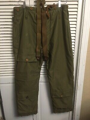 Vintage US Army Air Corp WWII A-9 Alpaca Lined High Altitude Flight Pants 34