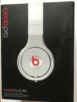 Genuine Beats by Dr. Dre Pro Headband Professional Headphones Wired White