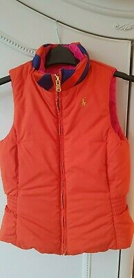 Ralph Lauren Girls Reversible Down Puffer Gillet/Body Warmer Size 6 Years