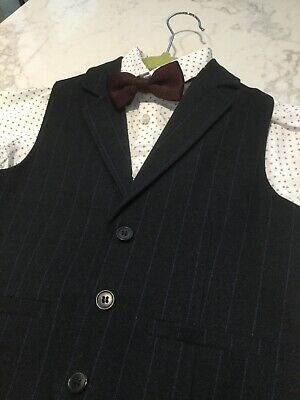 NEXT 5-6 years Boys Waistcoat, Shirt and Bowtie Immaculate