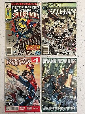 "COMIC BUNDLE x4 SPIDER-MAN LOT👀 ""1 AMAZING PRICE"""