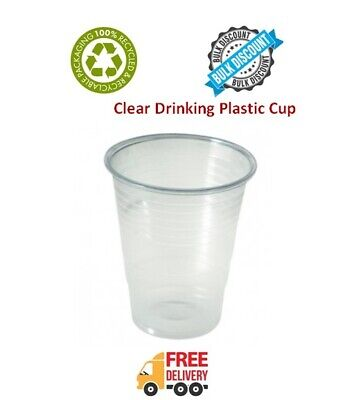 White Plastic Disposable Juice Water Cups Tumbler 180ml 6.3oz Great Value Cheap!