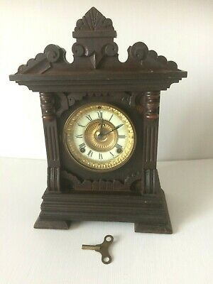 Antique Ansonia USA Wooden Mantel Clock