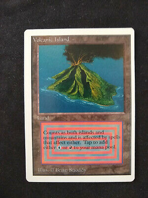 Magic the Gathering -  DUAL  - Volcanic Island  - UNLIMITED EDITION