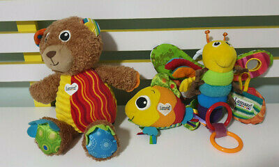 Lamaze Butterfly Pram Clip Cot Clip Bear And Textured Fish! Baby Toys!