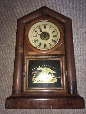 Antique Ansonia Brass And Copper Co. Mantle Clock **Must See! Runs!**