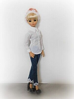 Ellowyne Wilde Tonner 16 in OR RTB101 Tailored Shirt Top Blouse Jeans OUTFIT 3PC