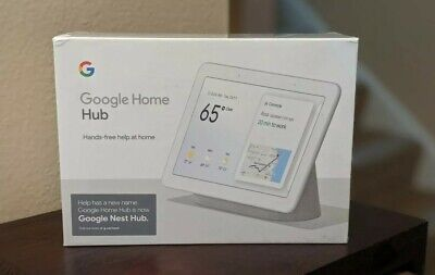 Google Nest Hub with Built-In Google Assistant, Chalk - BRAND NEW