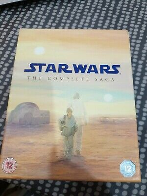 Star Wars: The Complete Saga Collection Blu-ray 9 Disc Box Set Immaculate Cond