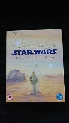 David Prowse (Darth Vader) SIGNED Star Wars - The Complete Saga Blu Ray set