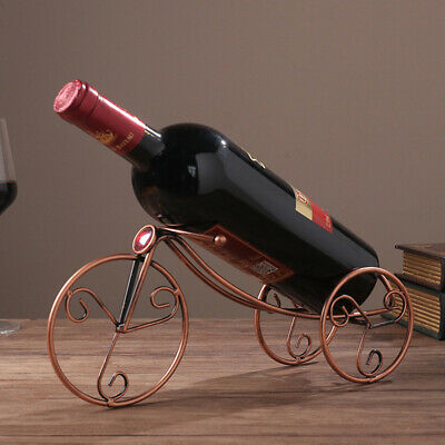 Single Wine Rack Champagne Bottle Holder Wine Display Iron Countertop Stands