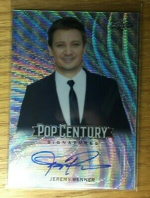 2019 Leaf Pop Century Jeremy Renner Autograph(auto) Silver Wave Hawkeye Avengers