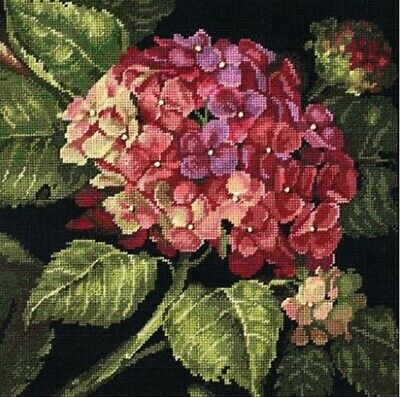 Dimensions Hydrangea Bloom Kathryn White Needlepoint Kit