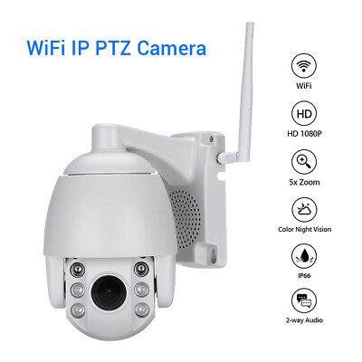 HD 1080P WiFi IP PTZ Camera Network Onvif Security Color Night Vision Home Mini