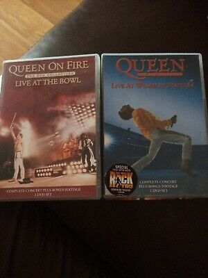 Queen - 2 X DVD Collection: Live At Wembley Stadium & Live At The Bowl Vgc