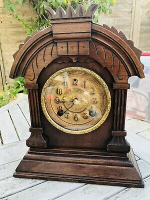 Antique Gingerbread American Mantle Clock Ansonia Company New York Usa