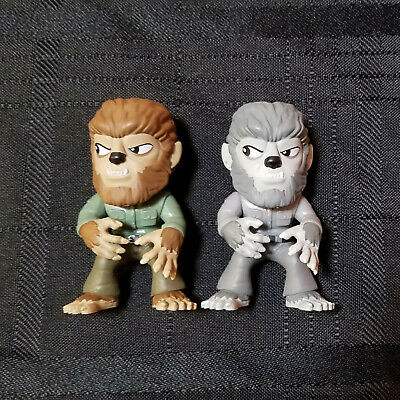 Funko Mystery Minis Universal Studios Monsters WOLFMAN B&W + Color Lot of 2