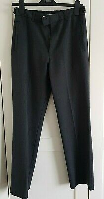 Boys Grey M&S Wool Blend Adjustable Waist School Trousers Age 15 Worn Once