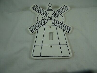 "Dansk Windmill Electric Switch Cover Single Toggle Ceramic 7"" Dansk for Kids"