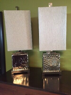 2 TWO, UTTERMOST BASHAN ACCENT LAMP Nickel plated water glass